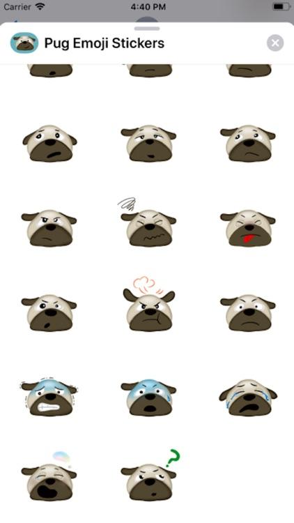 Pug Emoji Stickers ! screenshot-3