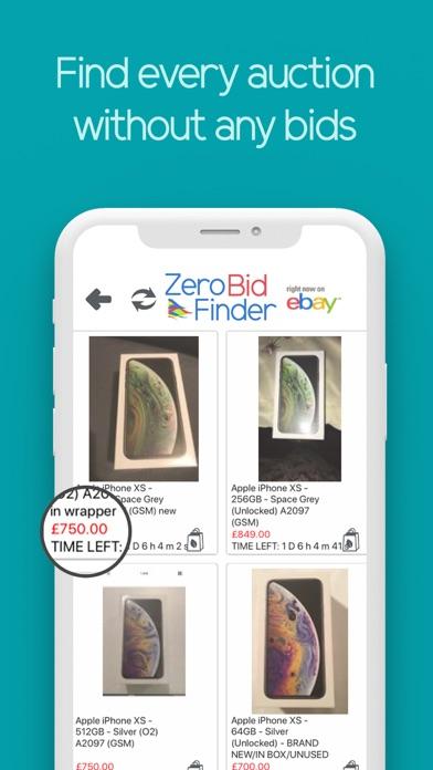 Zero Bid Finder for eBay UK screenshot three