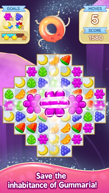 Gummy Gush: Match 3 Puzzle screenshot-1