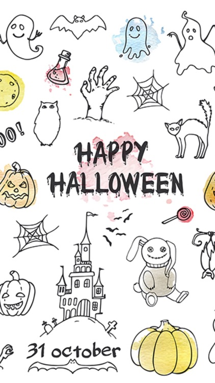 Hipster Halloween Stickers