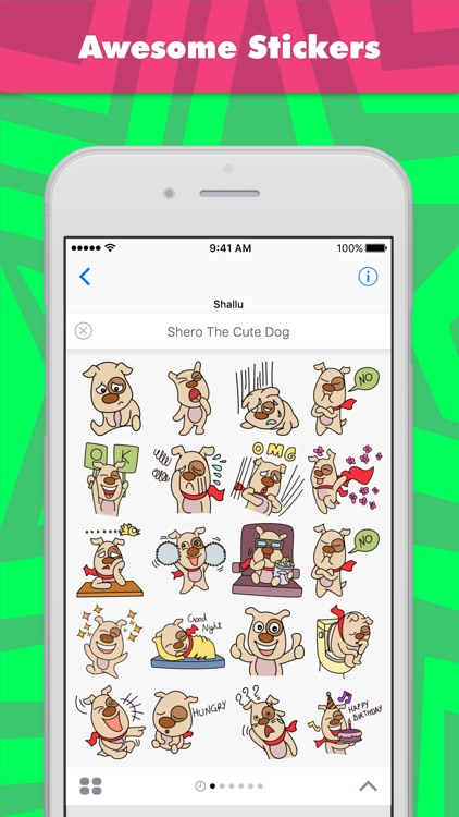 Shero The Cute Dog stickers