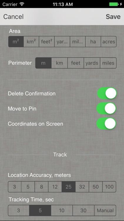 Planimeter - GPS area measure screenshot-9