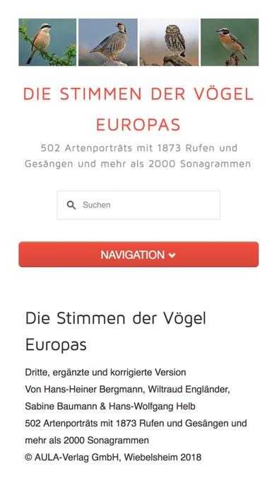 Screenshot for Die Stimmen der Vögel Europas in Germany App Store