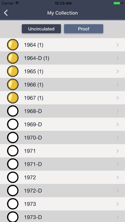 Kennedy Half Dollars - Coin Collection Tracker screenshot-3