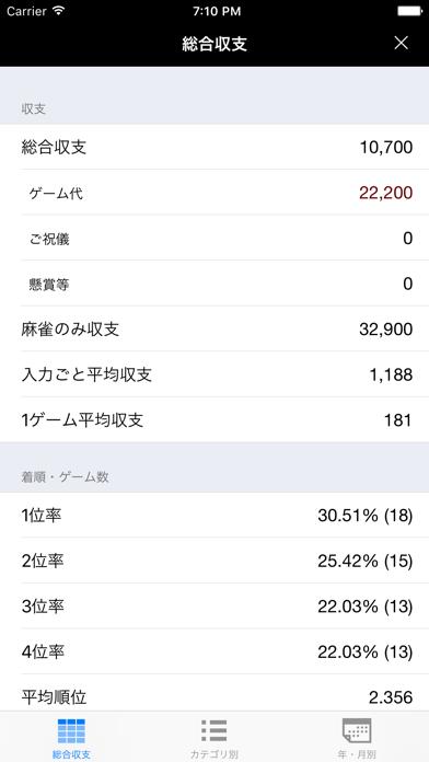 麻雀収支帳 ScreenShot3