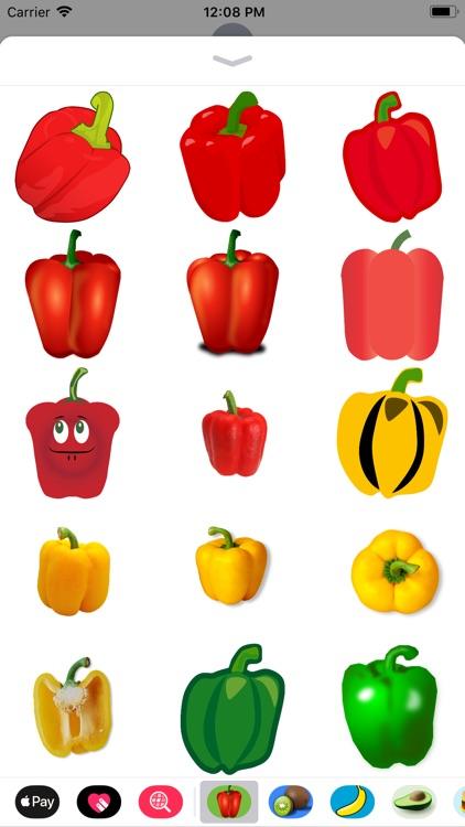 Bell Pepper Stickers