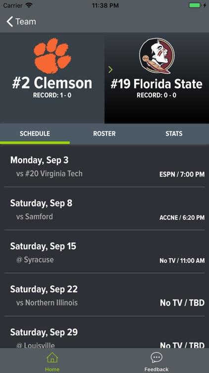 Clemson Football Schedules screenshot-4