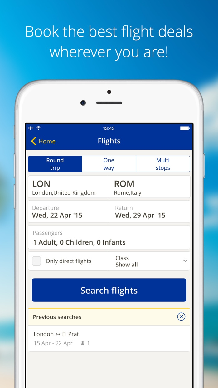 eDreams-Flights, Hotels & Cars Screenshot