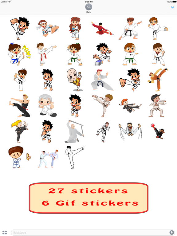 Fun And Cute Martial Arts Emoji Stickers Pack | App Price Drops