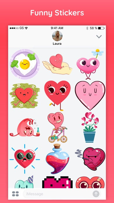 Hearts Emoji Funny Texting App screenshot three