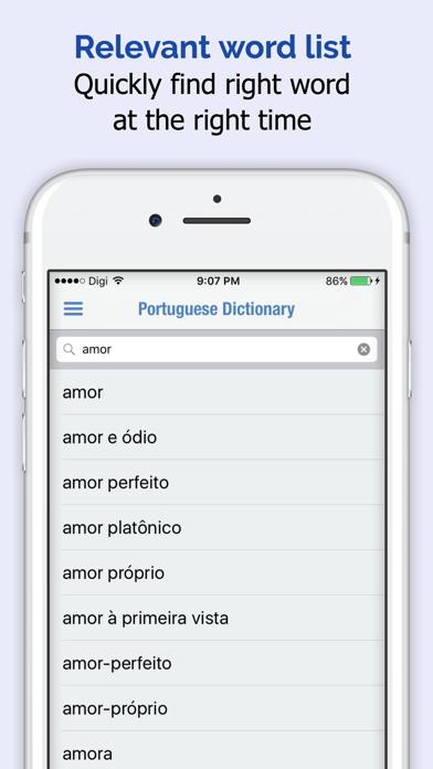 Portuguese Dictionary + screenshot two