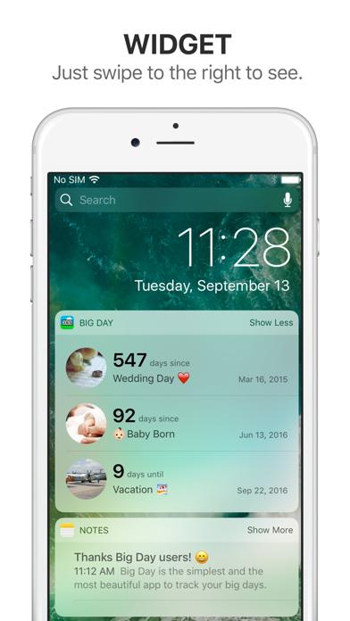 Big Day - Event Countdown screenshot two