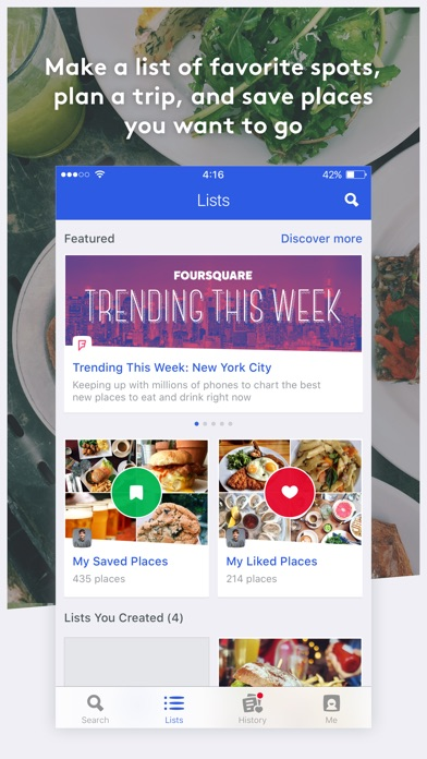 Foursquare City Guide review screenshots