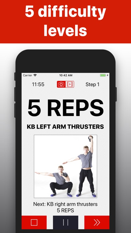 Kettlebell workout hiit wod