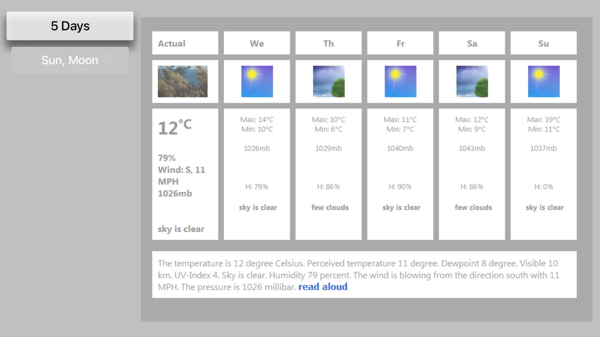 LCD Weather Clock screenshot 3