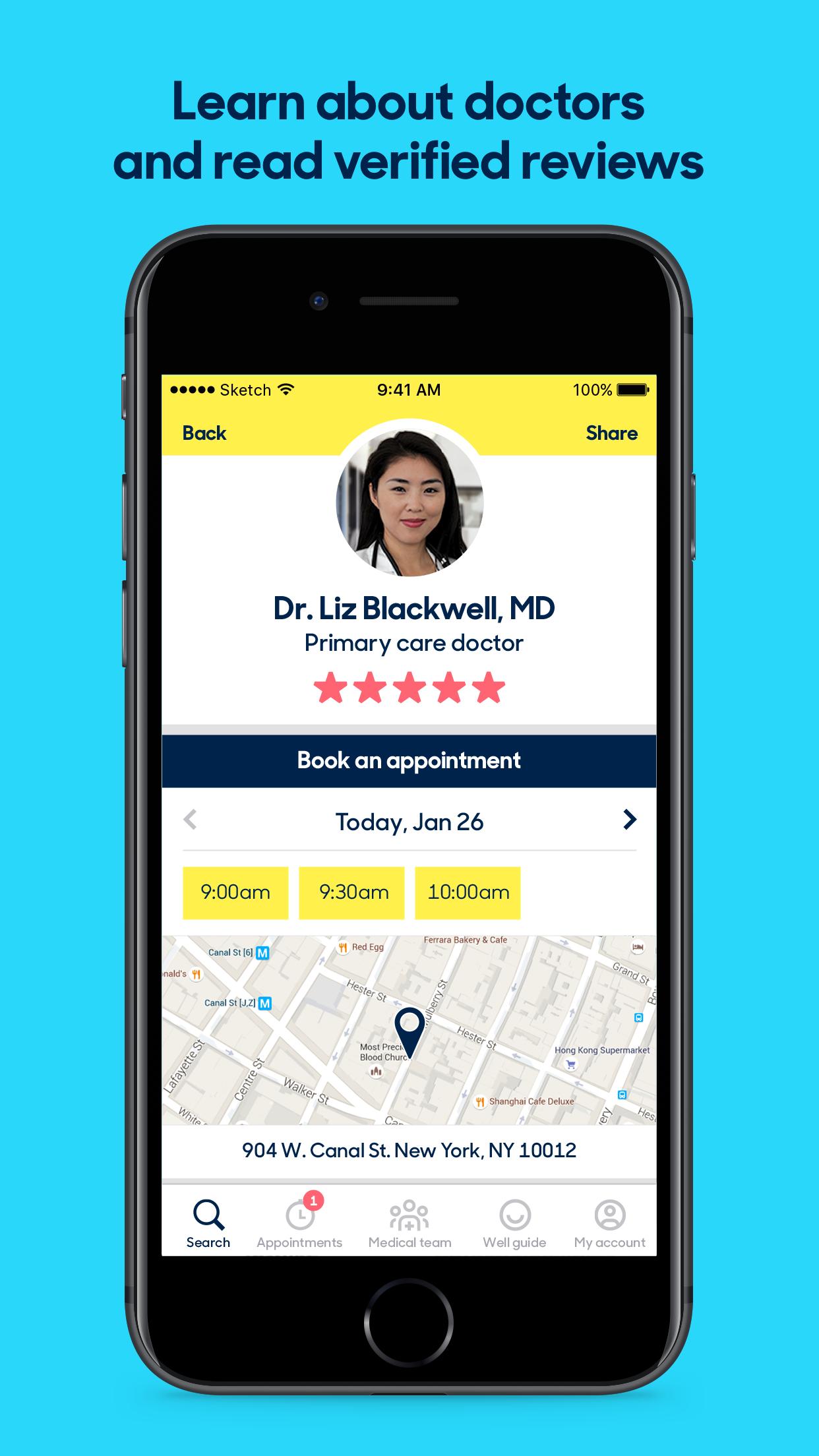 Zocdoc: Find & Book Doctors Screenshot