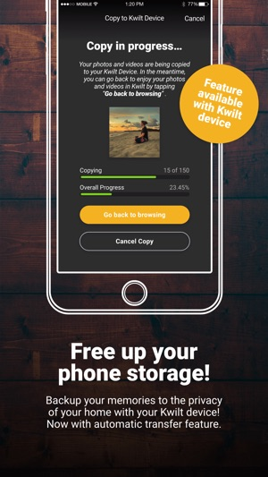 kwilt your private cloud on the app store