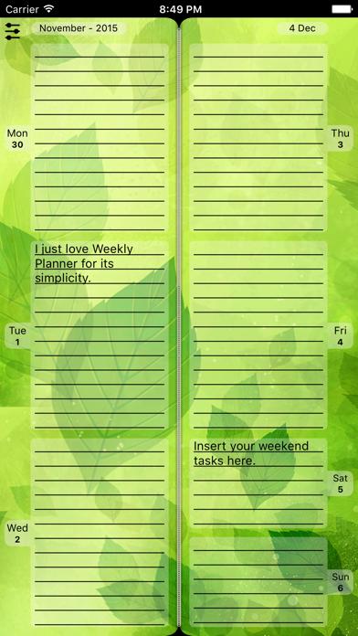 Weekly Planner Diary Agenda screenshot three