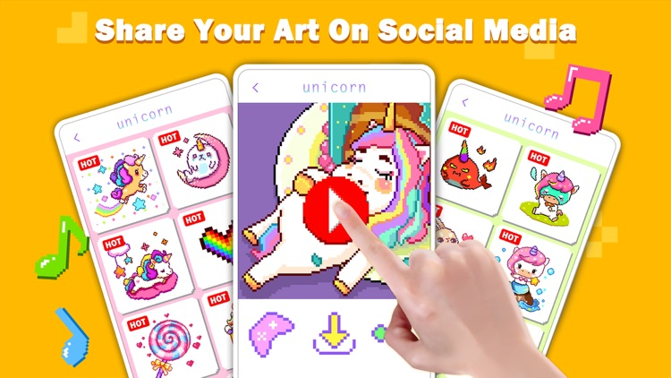 Unicorn Art: Color By Number screenshot-4