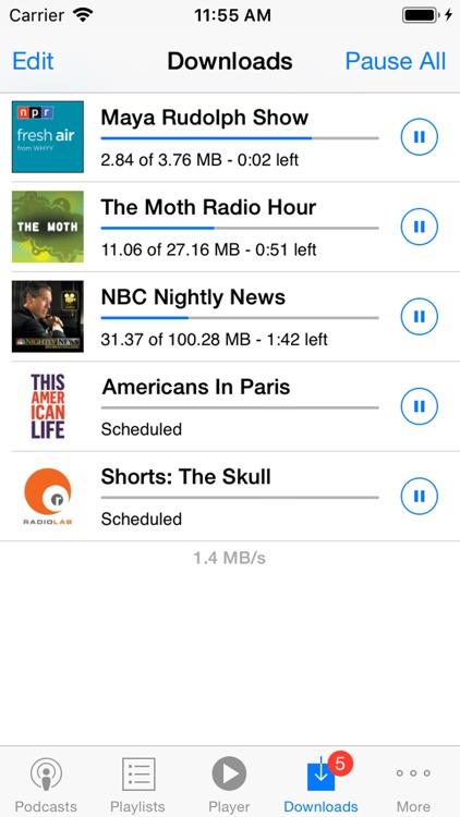 PodCruncher Podcast Player App screenshot-3