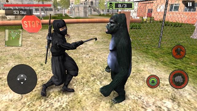 Ape Vs Ninja Assassin Fighting