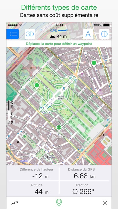 Screenshot for Maps 3D PRO - Outdoor GPS in Lebanon App Store