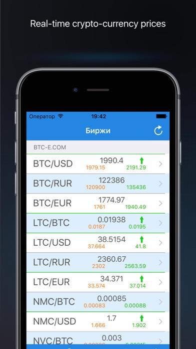 BTC цена биткоина и оповещения Скриншоты3