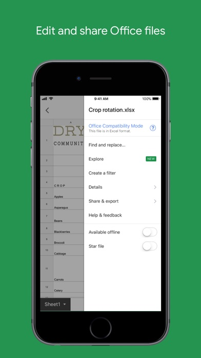 download Google Sheets apps 2