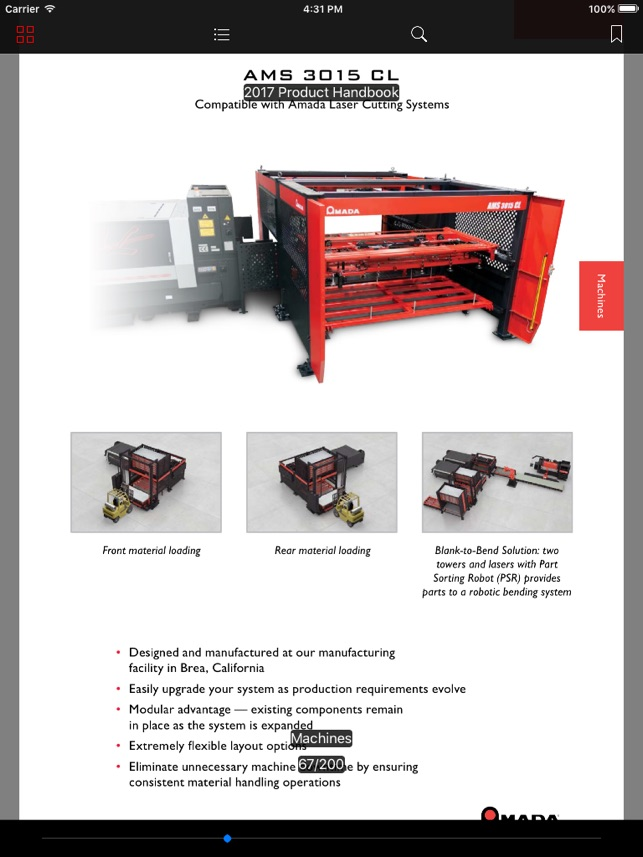 Amada Product Handbook on the App Store