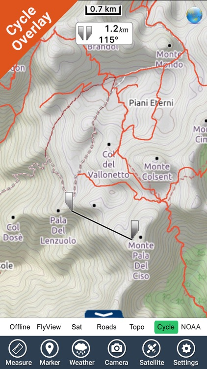 Dolomiti Bellunesi National Park GPS Map Navigator