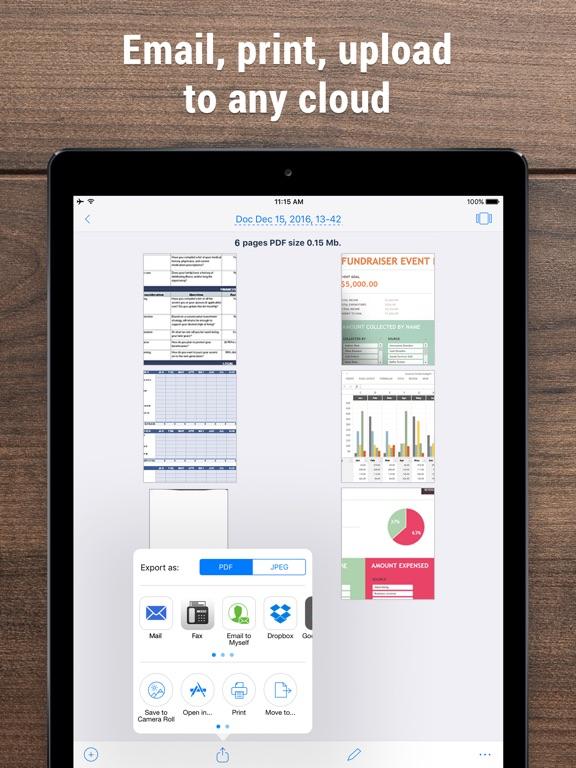 iScanner - PDF Scanner App. iPad