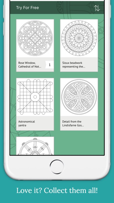 World Mandalas:  Colouring for Mindfulness Screenshot