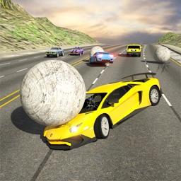 Rolling Ball Car Crash Racing