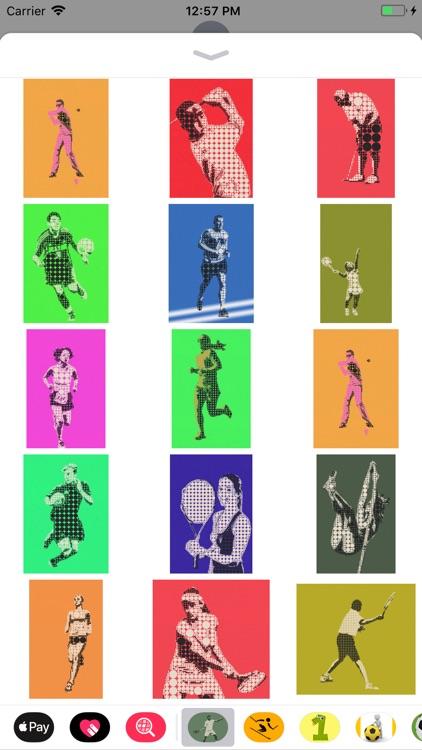 Athlete Pictogram Sticker Pack