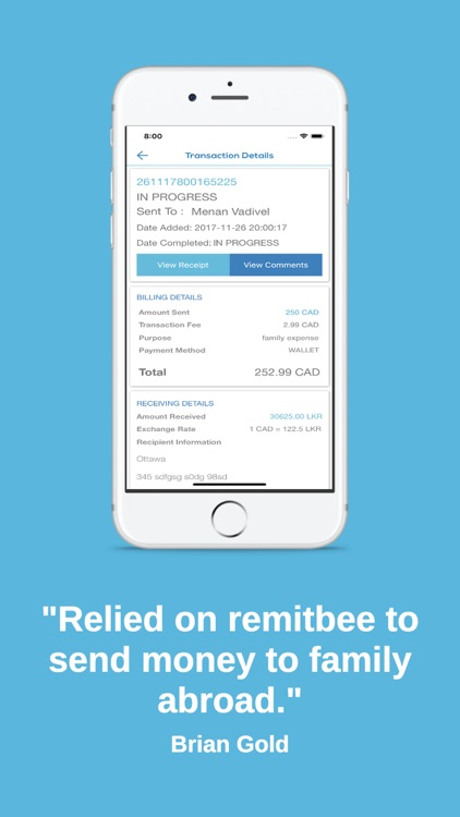 RemitBee Money Transfer screenshot-3