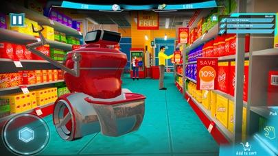 Futuristic Robot Shopping Cart