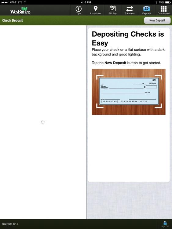 WesBanco Mobile Banking iPad Version screenshot-3