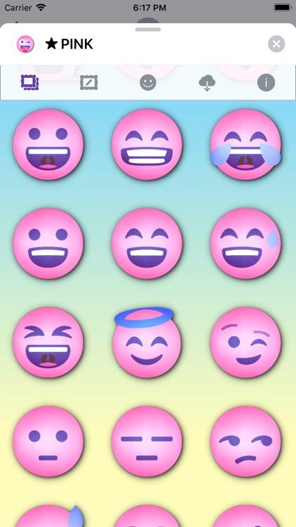 PINK Emoji • Stickers screenshot-3