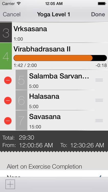 Yoga Sequence Timer screenshot-3