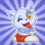 Snowy White Cat Stickers