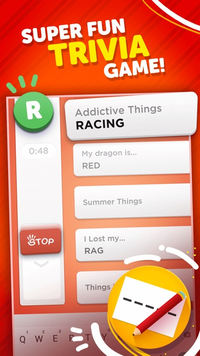 Stop - Categories Word Game Screenshot 1