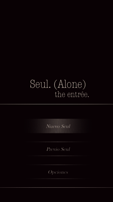 Seul.(Alone) The entrée - CYOA screenshot 1