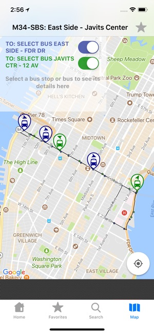 NYC Bus Tracker & Map on the App Store
