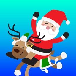 Santa Claus Chat Xmas Sticker