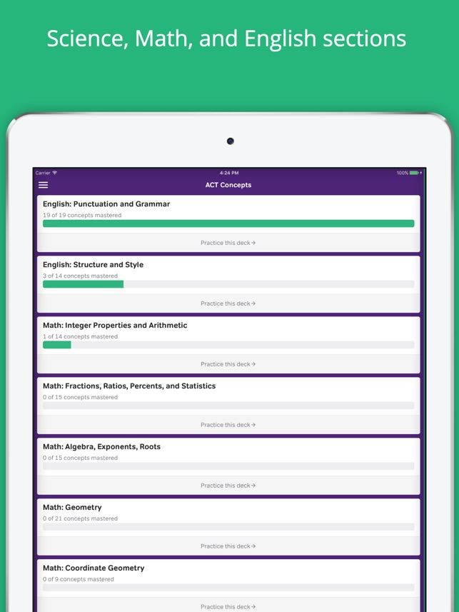 ACT Practice Flashcards on the App Store