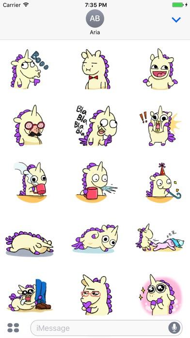 Crazy And Cute Unicorn Sticker screenshot 1
