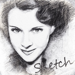 Pencil Sketch Photo Camera Pad