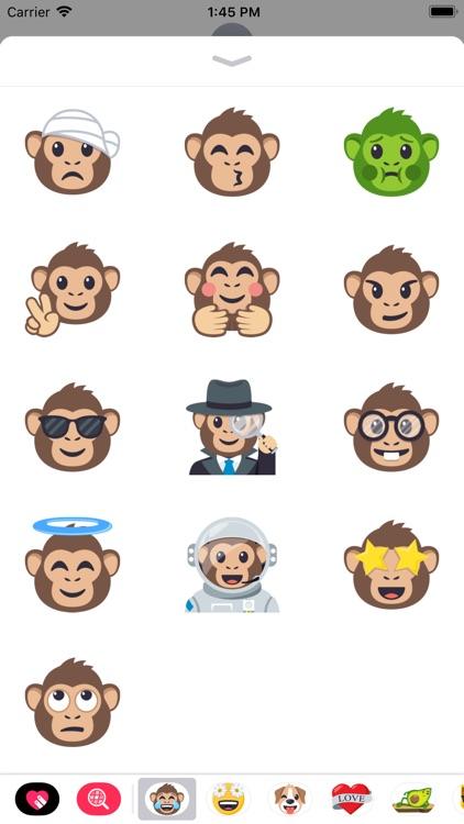 Monkey Pack by EmojiOne screenshot-3