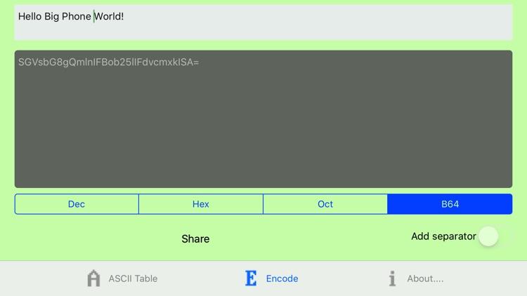Character Codes Table screenshot-3