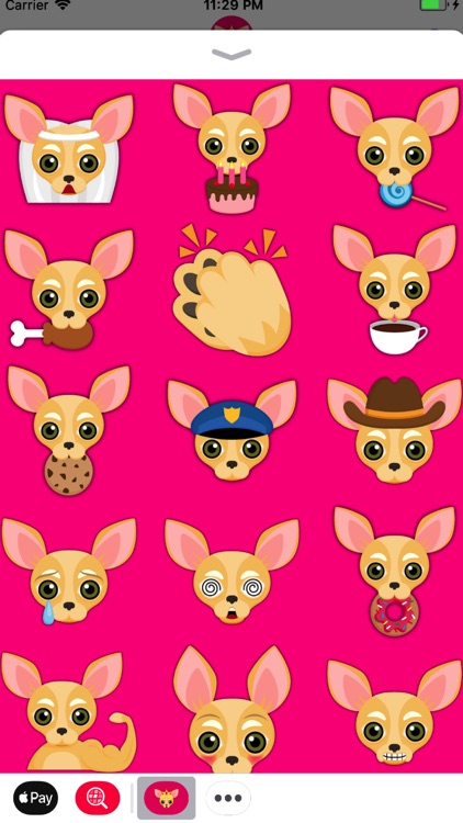 Fawn Chihuahua Emoji Stickers screenshot-0
